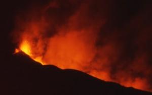 ETNA eruption de nuit