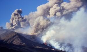 ETNA eruption vue genérale