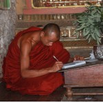 moine étudiant à MINGUN