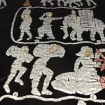 détail motifs de soie
