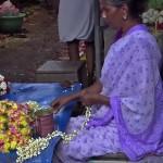 marché aux fleurs PONDICHERY
